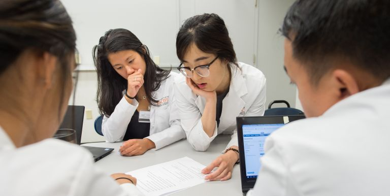 Group of PharmD students in classroom