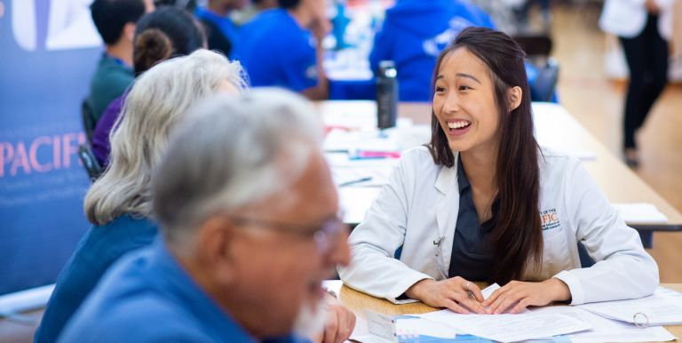 PharmD student at a Medicare Part D Outreach Clinic