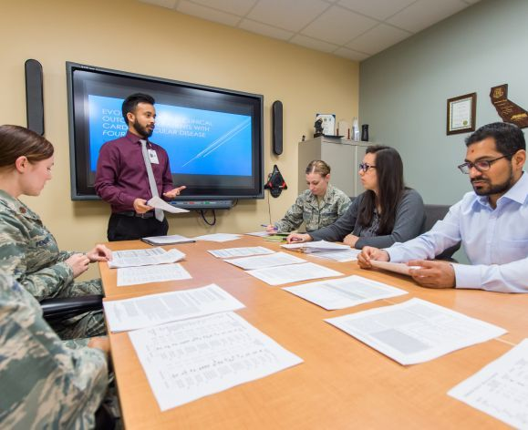 PharmD student gives presentation at Travis Air Force Base
